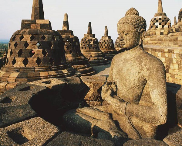 Borobudur Stupa – Borobudur Temple in Central Java, Indonesia